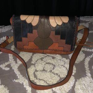 Patricia Nash Tivoli flap zigzag stitch patchwork